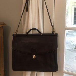 Vintage Coach briefcase Berkman 5266 brown leather